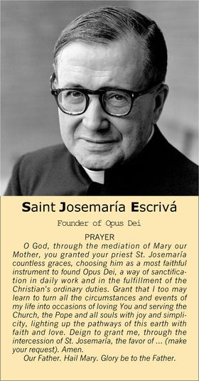 Prayer to Saint Josemaría